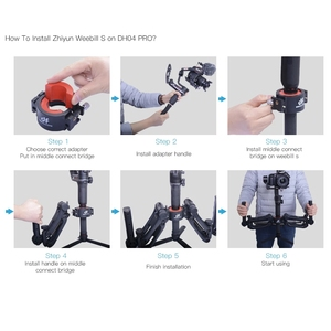 Image 4 - DH04 PRO 3 axis Gimbal stabilizer Spring Dual Handle 4.5kg bear with strap for RONIN S/SC WEEBILL S&LAB CRANE 3/3S Moza Air 2