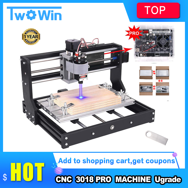 Mini Laser 3018 Pro CNC Machine With Offline Controller For Wood PCB PVC 1