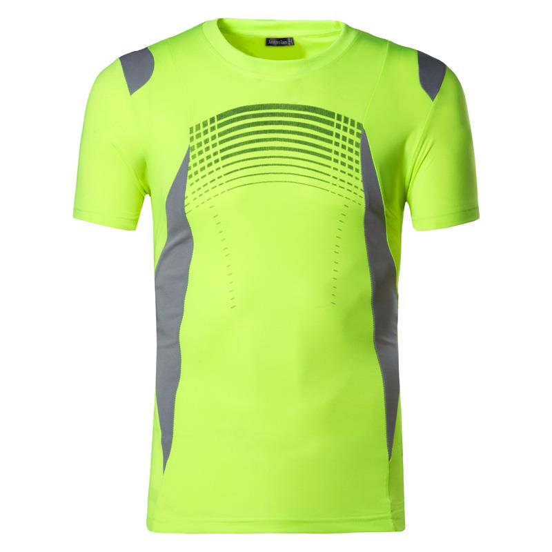 Jeansian Men 39 s T Shirt Tshirt Tee Shirt Sport Short Sleeve Dry Fit Running Fitness Workout LSL194 GreenYellow in T Shirts from Men 39 s Clothing