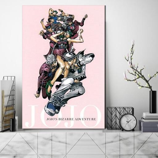 JoJo S Bizarre Adventure Wall Art Japan Anime Canvas Print Modular Poster HD Modern Picture Home Decoration Living Room Painting