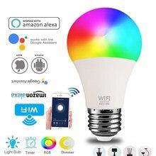 Ampoule intelligente sans fil wi-fi, lampe d'éclairage pour la maison, 15W E27/B22 Magic RGB + W LED, changement de couleur, variable, application de contrôle, livraison directe
