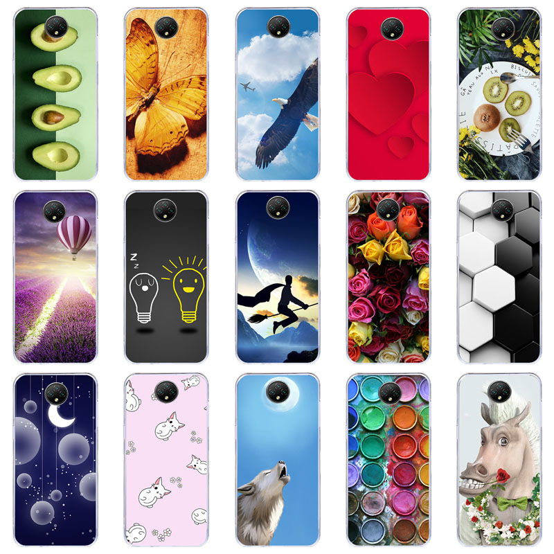 Yoedge Phone Case Designed for Doogee X95 02 Clear Silicone Shockproof TPU Transparent with Print Cartoon Pattern Anti-Scratch Bumper Back Cover for Doogee X95