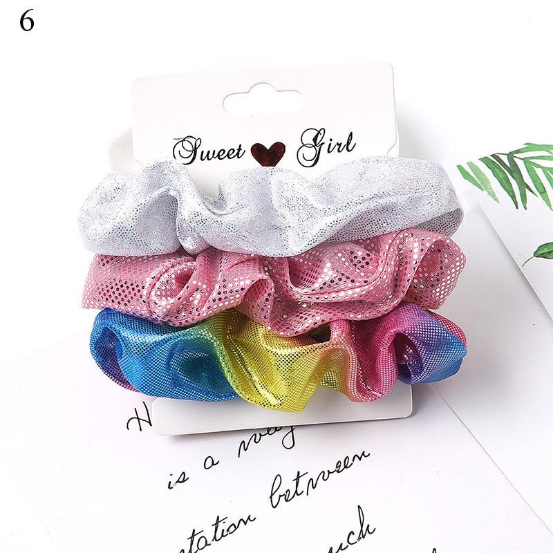 1 комплект резинки для волос кольцо для волос карамельного цвета Веревка для волос осень-зима женский хвостик аксессуары для волос 4-6 шт. ободки для девочек Подарки - Color: A6