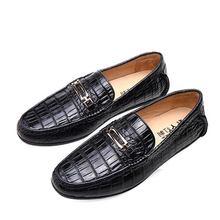 Новые мужские туфли на крокодиловой подошве Модные дышащие деловые