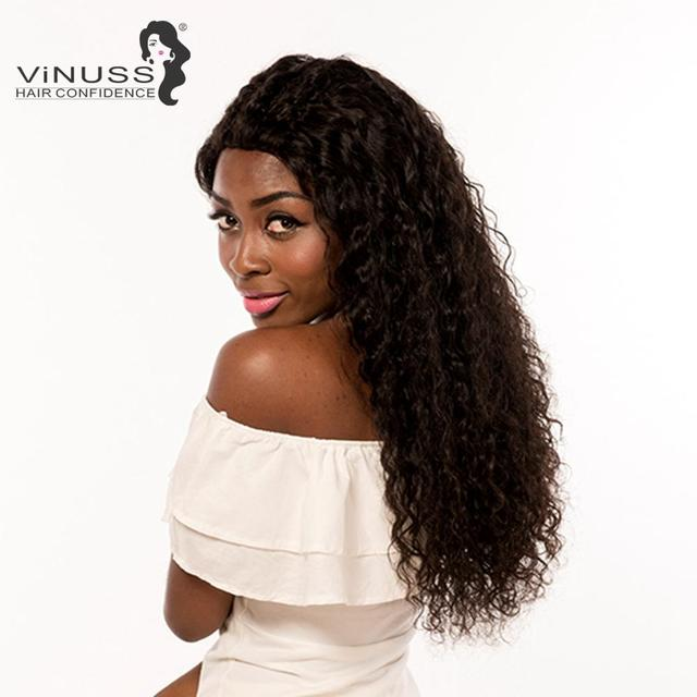 Vinuss Full Lace Human Hair Wigs water wave For Black Women Lace Front Wigs Brazilian Remy Pre Plucked Bleached Knots