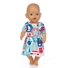 Fit 18 inch 43cm Born New Baby Doll Clothes Ocean Yellow Blue Rabbit Rainbow Dress accessories For Gift