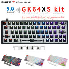 GK64xs RGB Hot Swap Programmierbare 60% Bluetooth Mechanische tastatur Fall PCB Platte Kirsche MX Tastatur DIY kit Austauschbare Raum(China)