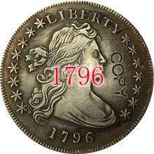 Stany zjednoczone 1796 drapowana popiersie dolar kopia monety tanie tanio Gyphongxin Miedzi Antique sztuczna 1840 i Wcześniej CASTING Chiny Ludzi COPY COINS