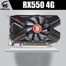VEINEDA grafikkarte rx 550 4G AMD GDDR5 128bit 1183MHz 5000MHz 14nm HDM DP DVI 512 einheiten 14nm rx550 4gb video karte