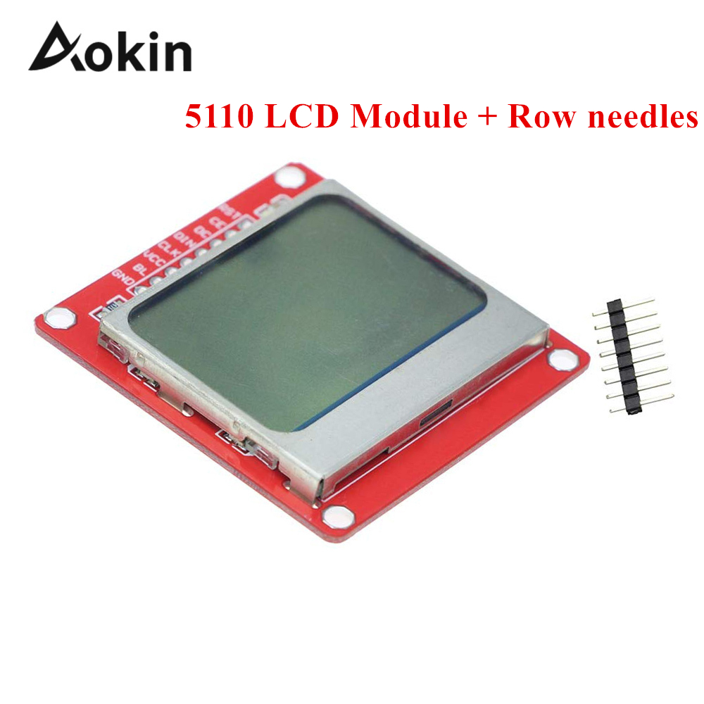 Aokin Smart Electronics 84*48 84x84 LCD Display Module Monitor White Backlight Adapter PCB Nokia 5110 Screen For Arduino