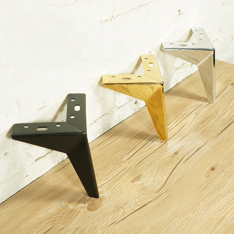 4Pcs Furniture Table Legs Metal Rhombus Sofa Legs Chair Legs Cupboard Cabinet Feet Height 10/13/15/17CM Furniture Leg