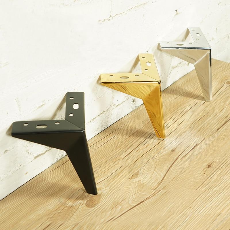 4Pcs Furniture Table Legs Metal Rhombus Sofa Legs Chair Legs Cupboard Cabinet Feet Height 10/13/15/17CM Furniture Leg