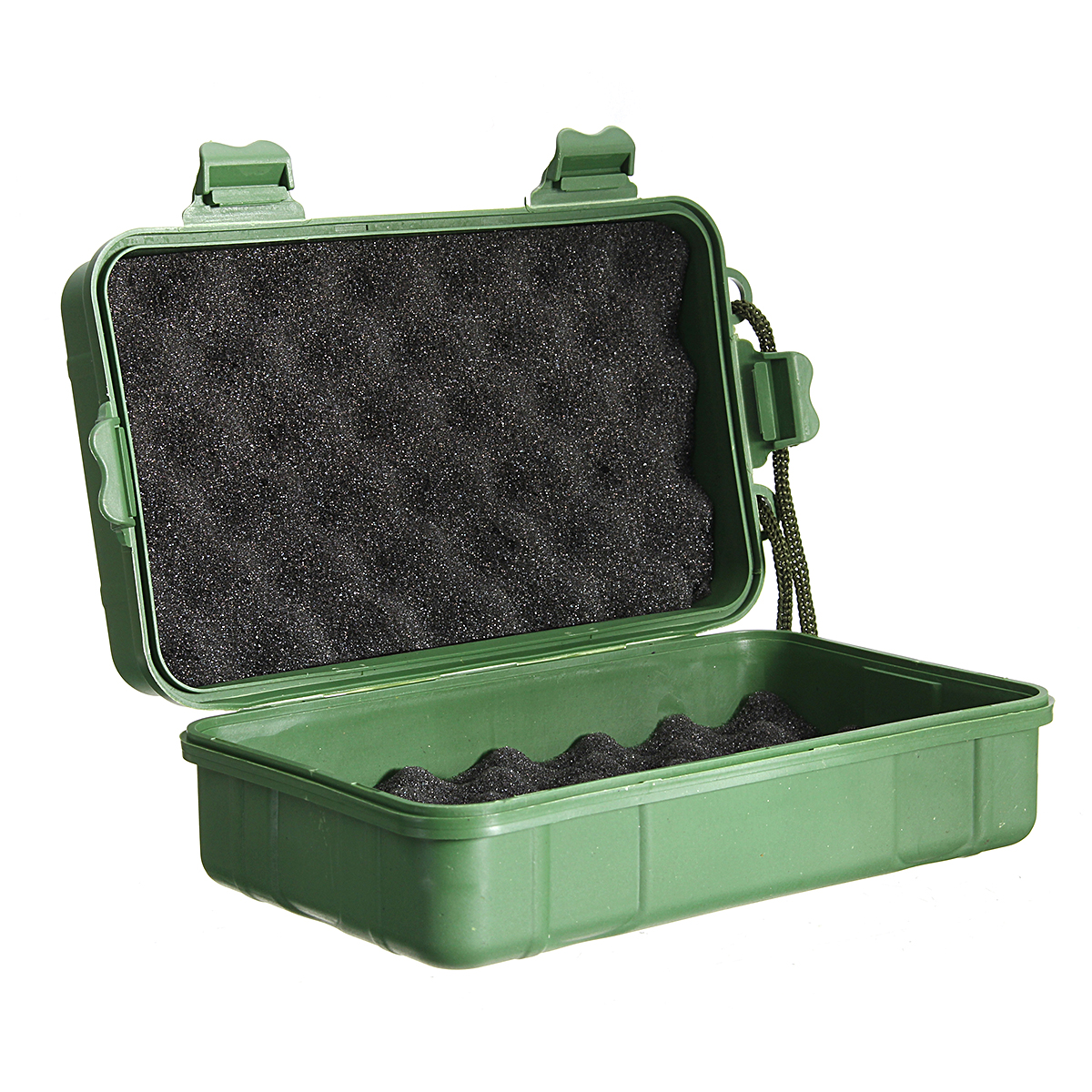 Green Plastic Kit Box Case Storage Holder For Led Flashlight Torch Lamp Light Headlight 21cm/18cm