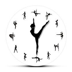 Kutup dans saat eller dekoratif duvar saati çelik tüp dans kutup dansçılar sessiz hareket duvar saati dans odası duvar sanat dekoru