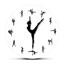 Manecillas de reloj de Pole Dancing, reloj de pared decorativo, tubo de robo, poste de baile, bailarines, movimiento silencioso, reloj de pared, sala de baile, Arte de la pared Decoración