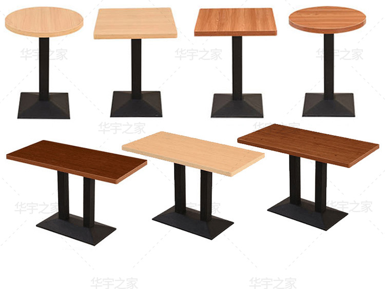 Custom Cafe Western Restaurant Table Dessert Shop Dining Table Milk Tea Catering Restaurant Quick Dining Table And Chair Combina