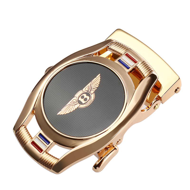 Automatic Belt Buckle For Men Not Contain Body Fashion Suitable For Jean Width 3.5cm Leather Luxury Brand Waist Tape Accessories
