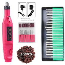 Electric Nail Drill Machine Pedicure Pen Sanding Polishing Grinding Manicure Machine Nail Drill Bits Nail File Nail Art Tools 1pcs electric nail art drill machine manicure hand piece stander bits salon home nail diy tools accessory eu plug promotion sale