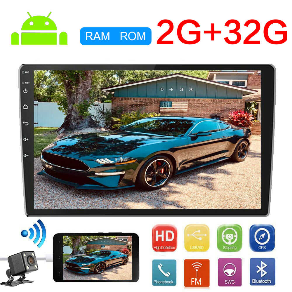 9 10.1 Inci Android 9.1 2din Auto Radio GPS Navigasi Mobil Radio Video Player Bluetooth Wifi Cermin Link Audio Stereo Quad inti