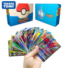 TAKARA TOMY 100-300Pcs Pokemon Card VMAX MEGA GX EX English Game Shining Card Battle Trading Booster Box Collection Gift Kid Toy