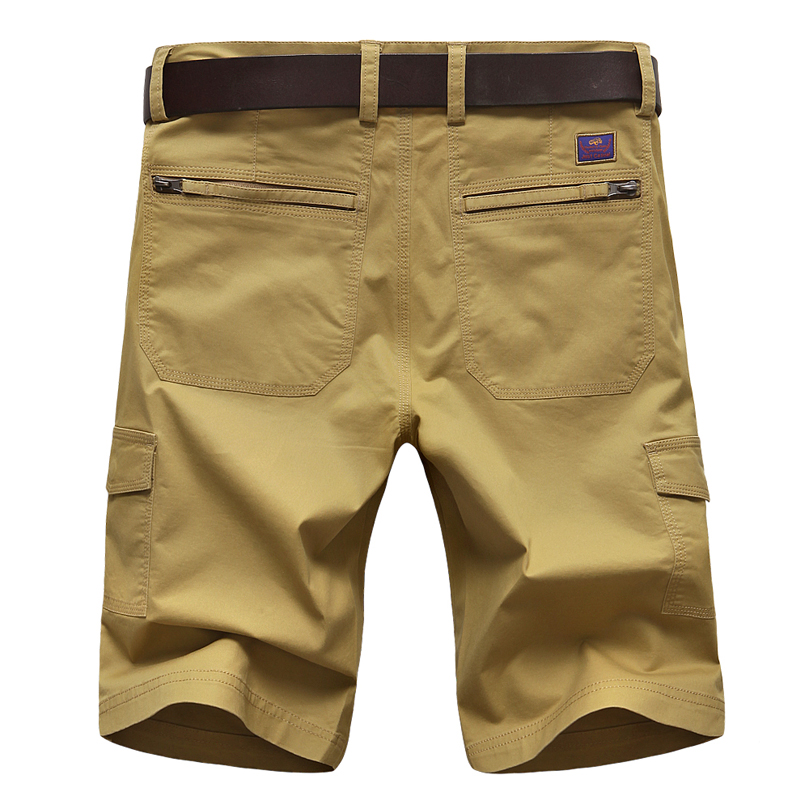 Military Men Casual Shorts Plus Size Beach Cotton Cargo Shorts Stretch With Pockets Pants Traning Roupas Fitness Clothing XX60MS