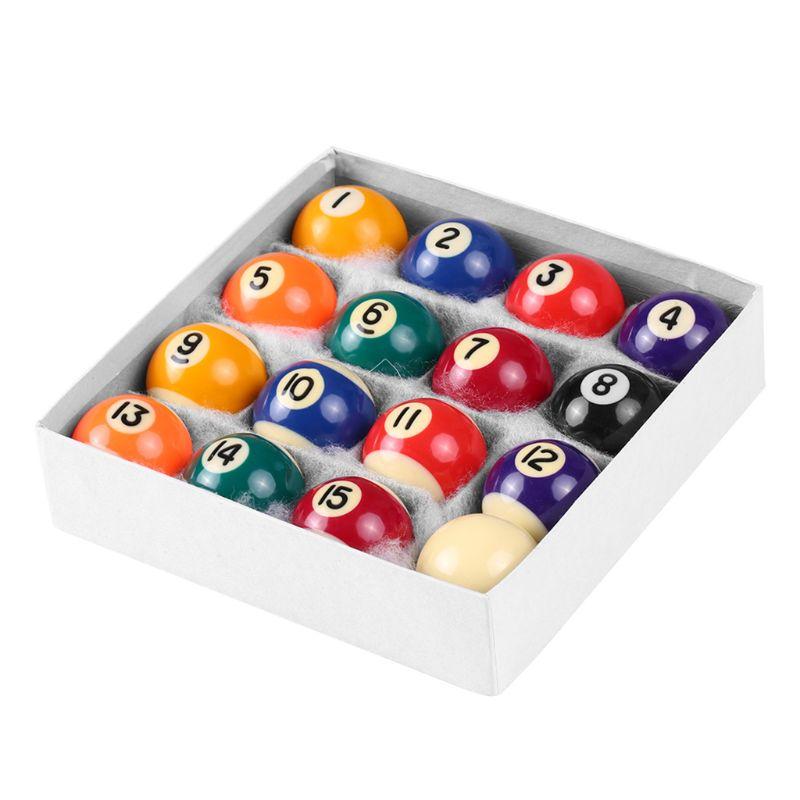 16pcs 25mm Resin Mini Billiard Ball Children Toy Small Pool Cue Balls Full Set