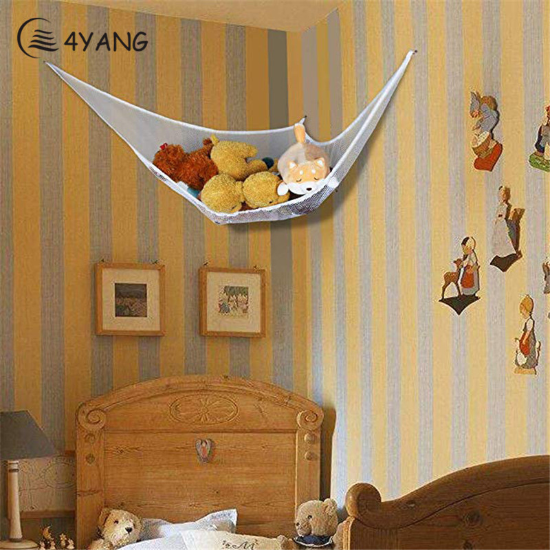 Kids Toy Soft Teddy Storage Hammock Mesh Baby Bedroom Tidy Nursery Net New Dropshipping Wholesale