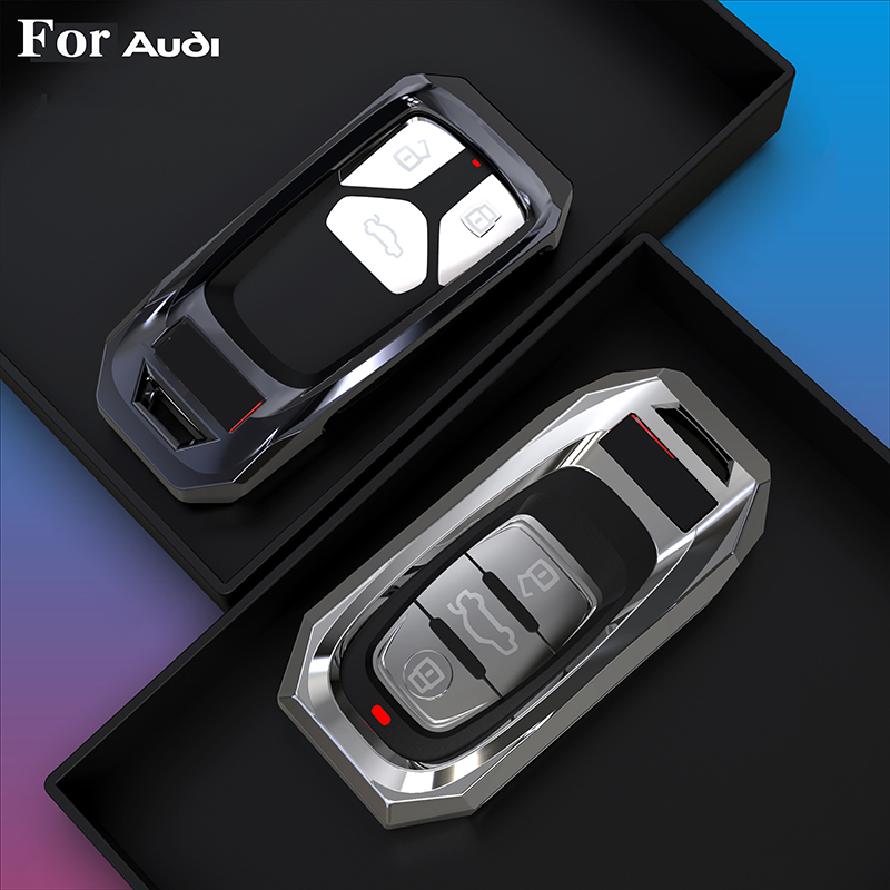 2020 New Style Hight Quality Alloy Car Key Cover Case For Audi A4L A6L Q5 A8 A5/A7 S5/S7 Intelligent 3 Buttons Remote Keyless