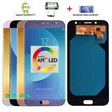 Супер Amoled ЖК-дисплей для samsung Galaxy J7 Pro J730 J730F ЖК-дисплей и кодирующий преобразователь сенсорного экрана в сборе