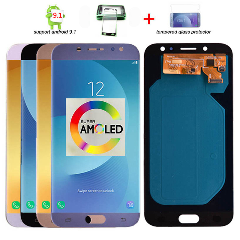 Original Super Amoled LCD For <font><b>Samsung</b></font> <font><b>Galaxy</b></font> <font><b>J7</b></font> Pro <font><b>2017</b></font> J730 J730F LCD <font><b>Display</b></font> and Touch Screen Digitizer Assembly image
