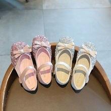 Шикарные дизайнерские туфли для принцесс милые школьные бежевого