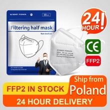 Masque facial filtrant FFP2mask KN95, 10 à 100 pièces, livraison depuis la pologne