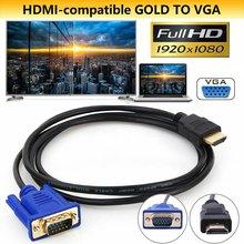 0,3/1/1.8/3/5 м, совместимому с HDMI кабель VGA HD с аудио кабель-адаптер, совместимому с HDMI к VGA кабель дропшиппинг