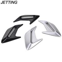 JETTING 2pcs Car Auto Side Vent Air Flow Fender Intake Sticker Simulation Vents Decorative