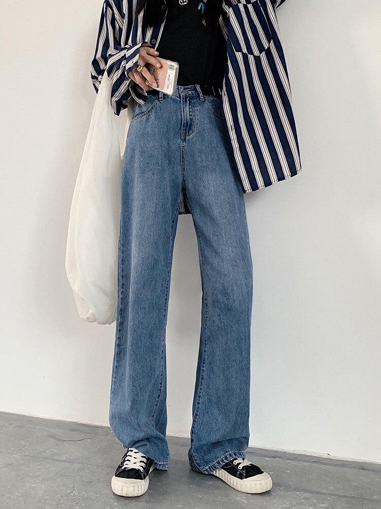 Женские джинсы, Новинка осени 2020, модные прямые джинсы, облегающие брюки с драпировкой, джинсовые брюки с широкими штанинами для женщин