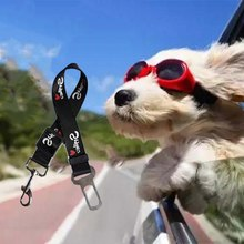 Pet Dog Seat Belt Upgraded Adjustable Pet Elastic Safety Seat Belt Leash Retractable Rope for Dog Pet outdoor Car Supplies(China)
