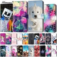 Skórzane torby telefon Slot kart portfel etui z klapką do Samsung Galaxy S10E S10 S9 Plus S8 S7 S6 S5 A3 2016 A310 A510 A520 tylna okładka