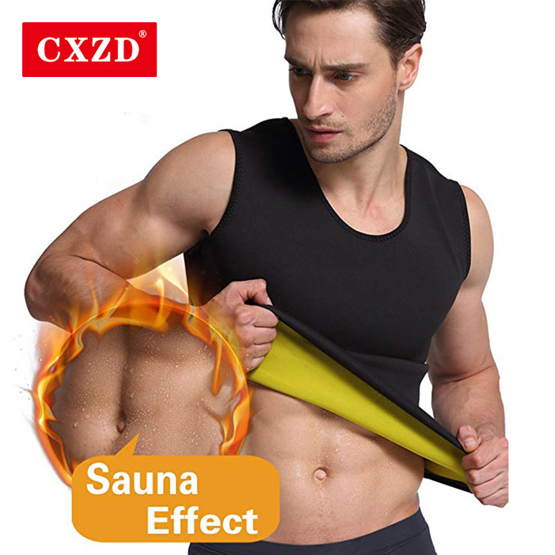 CXZD Men Slimming Vest Body Shaper Neoprene Abdomen Burning Fat Shapewear Sweat Waist Corset Super Stretch Shapewear
