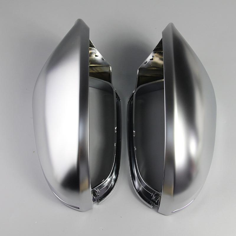Bodenla espelho retrovisor caso completo acabamento cromado fosco porta capa de espelho capa escudo habitação para audi a6 c7