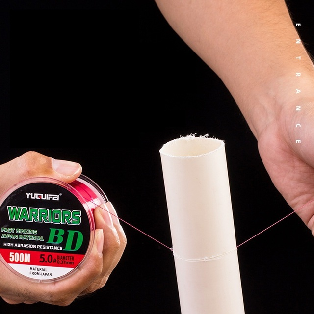 Nylon ligne de pêche ligne principale sous-ligne matériel 2021 accessoires pour leurre mouche poisson marque chinoise dur soie brute 500 mètres