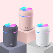 Air Humidifier Ultrasonic Aroma Essential Oil Diffuser 300ml USB Cool Mist Maker Aromatherapy with Colorful Lamp for Home Car