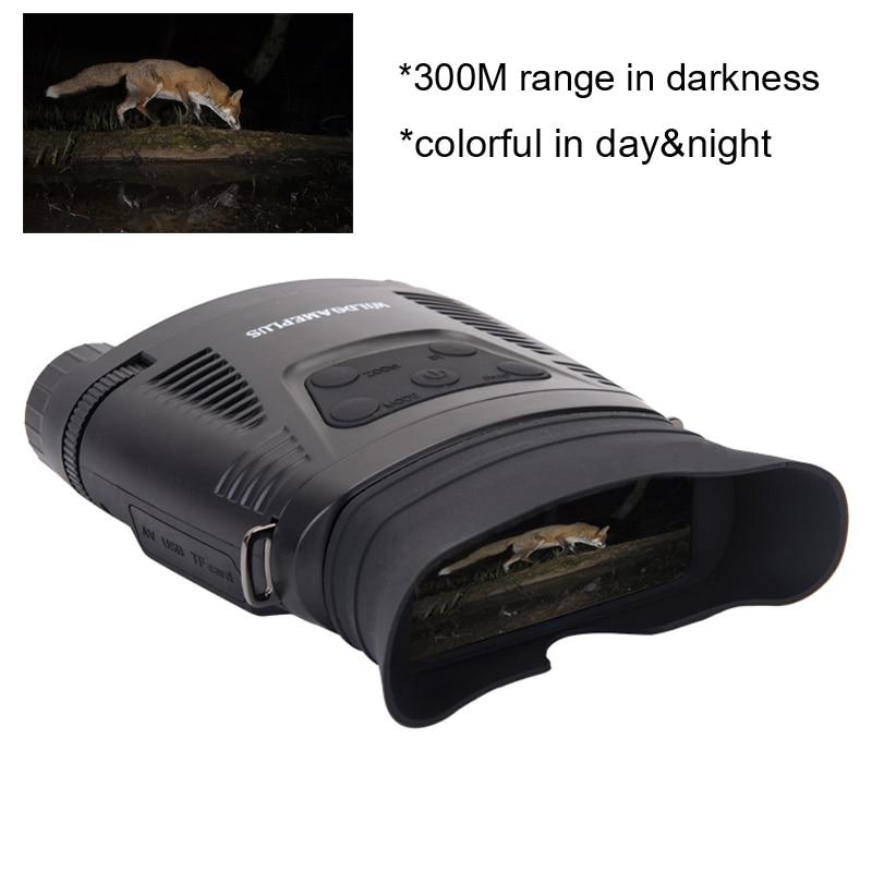 Image 2 - WILDGAMEPLUS NV200C Infrared Night Vision Binoculars Telescope 7X21 Zoom Digital IR Hunting Night Vision Goggles Optical Hunter-in Monocular/Binoculars from Sports & Entertainment on