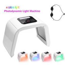 Máquina de tratamento facial fotodinâmica, máquina de led para cuidados com a pele, rejuvenescimento e terapia com fóton pdt 4 cores