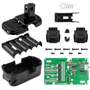 Image 1 - 5 ליבה/10 ליבה PCB לוח עם תיבת סוללה הגנת מעגל לוח PCB לוח פלסטיק סוללה מקרה עבור RYOBI 18V /P103 /P108