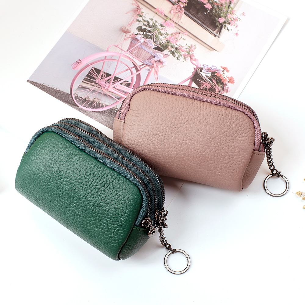 Women Leather Wallet With Zipper Female Short Coin Purse Girls Small Coin Pouch Lady Purse Money Bag Card Holder Mini Clutch New