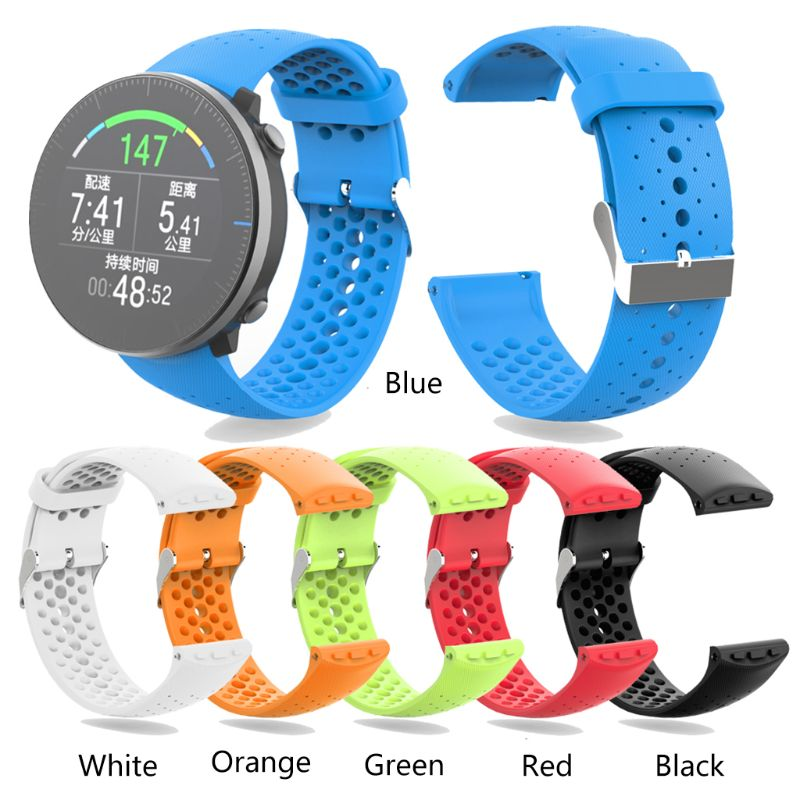 Unisex Soft Silicone Wrist Band Sports Watch Strap For POLAR Vantage M Watch