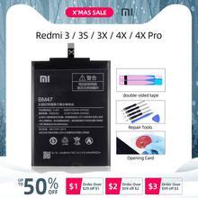 BM47 4000mAh для XIAOMI Redmi 4X Аккумулятор Xiaomi Redmi 3 Аккумулятор Redmi 3S 3 Pro 3X BM 47