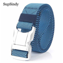 SupSindy Military Army Combat Men Stretch elastic nylon Tactical belt Aluminum alloy buckle Canvas Training Waistband male strap