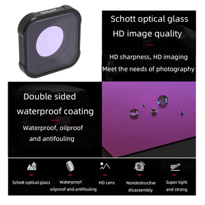 Image 2 - Hero 9 action Camera Lens Filters Set UV CPL ND4/8/16/32/64 Star Night Diving pink red for GoPro Hero 9 black Filter Accessorie
