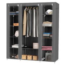 Шкаф для одежды с большой емкостью, шкаф для обуви из нетканого материала, полка для обуви, DIY мебель, шкаф, шкаф для домашнего хранения, HWC